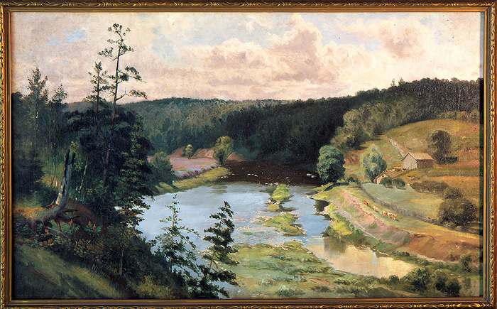 William Lees Judson, British, 1842-1928, Near Hyde Park, Oil, Gift Of Mrs. Audre E. Walker Through Her Daughter, Mrs. Anne E. Hayman, London, Ontario, 1987, And Conserved By The Canadian Conservation Institute Of The Department Of Canadian Heritage.