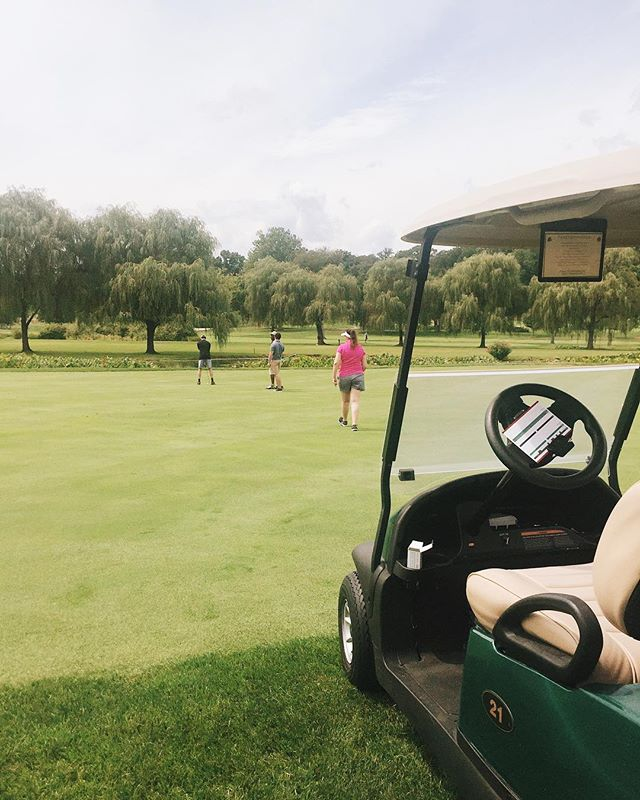 Golfing was fun but let's be honest, speeding around the course in golf-cart was certainly the best part.