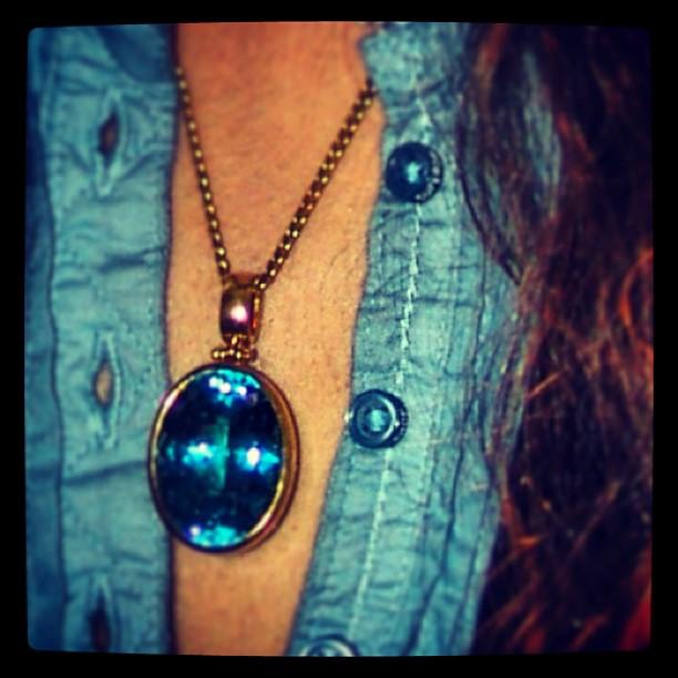Vintage Aquamarine Pendant