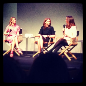 Kinvara Balfour, Natalie Massenet & Lucy Yeomans at the  Porter  event at the Soho Apple Store