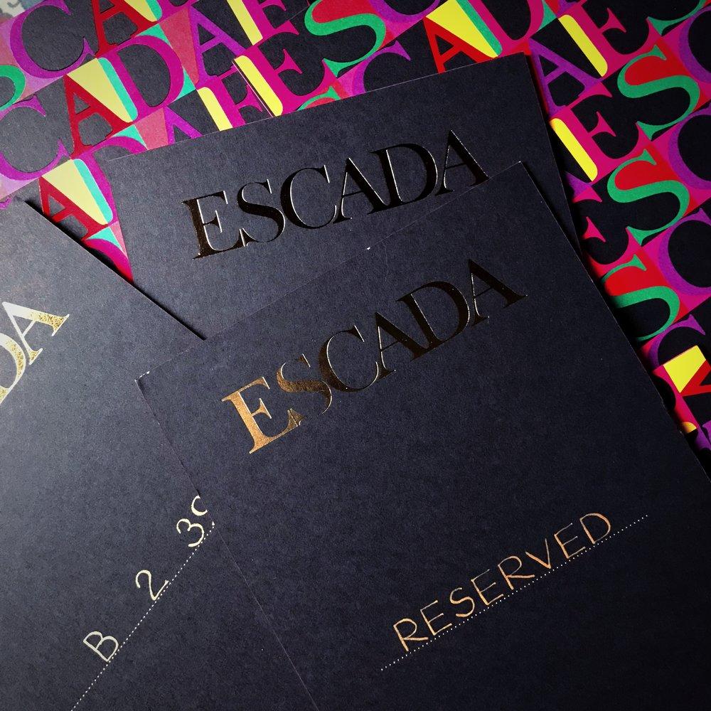 Escada SS19 Seat Cards
