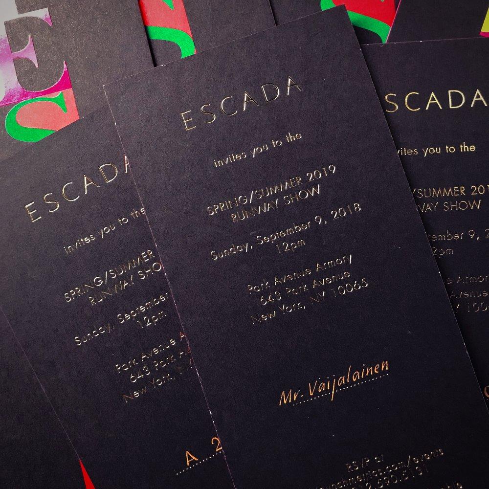 Escada SS19 Invitations
