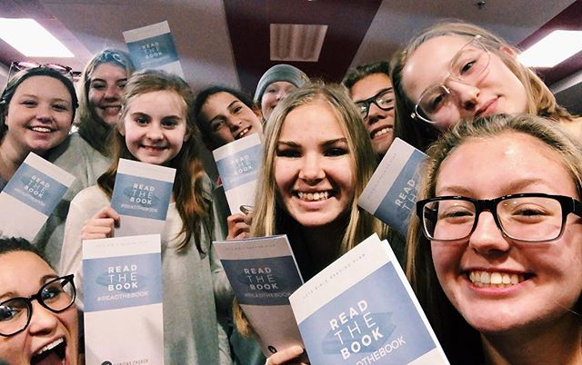 If you're a girl and you've been going to the youth group at Veritas for even a day then you know that I (Spring) like to challenge the girls each week. Today we talked about the importance of prayer and reading scripture. And can you guess the challenge?! Yeah! To jump on board with Read The Book. It's SUCH a special privilege to be able to lead you kids. Super stoked for this coming year with y'all! (Even the not pictured guys. 😂)