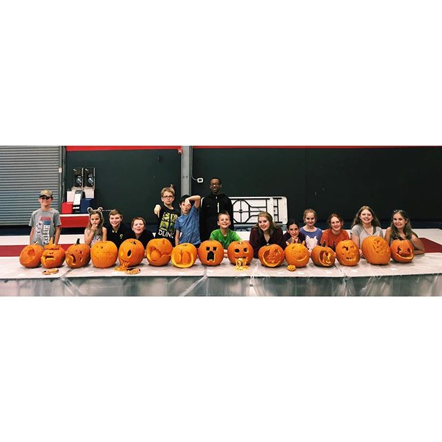 Year three doing the pumpkin carving contest! These kids are SO creative! Great job to everyone and Carissa for being voted as the winner!