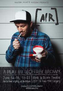 Air Poster | Major Matt Mason Theatre Collective