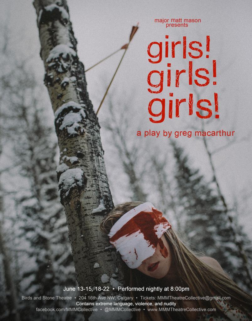 girls!girls!girls! Poster | Major Matt Mason Theatre Collective