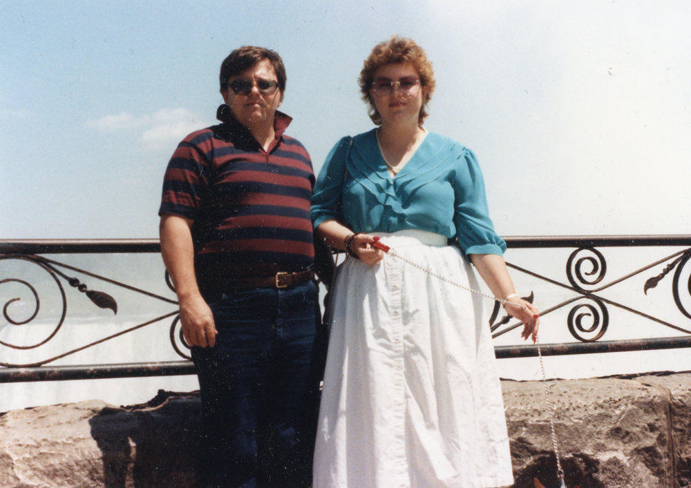My amazing parents - I took this photo when I was five.