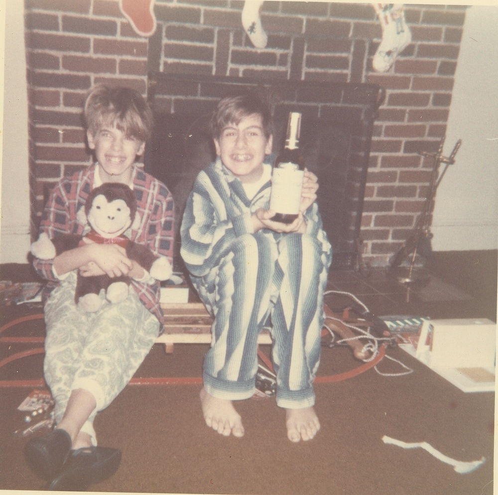 David and Jeff on Christmas long before they developed cardiomyopathy.