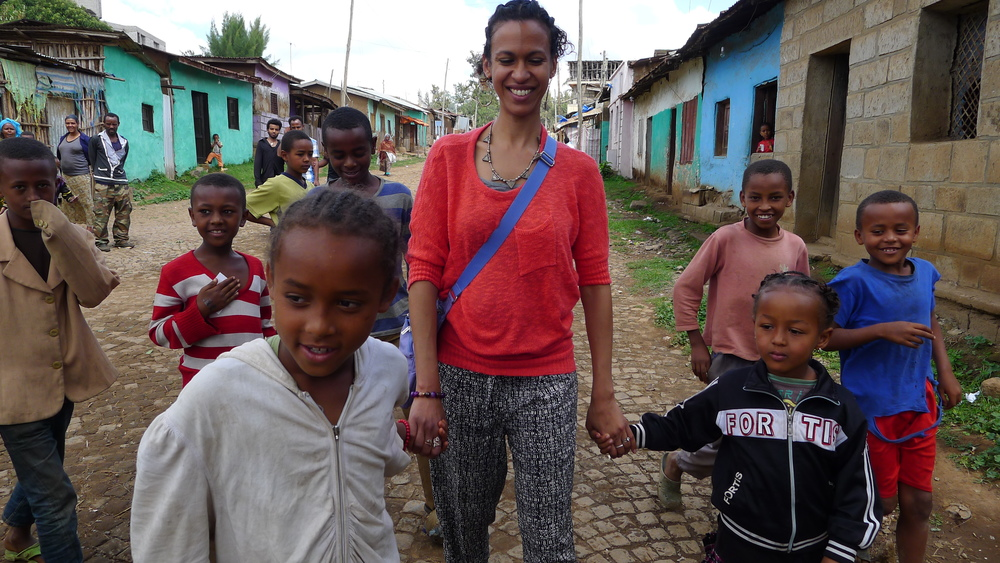My new friends in Ethiopia.