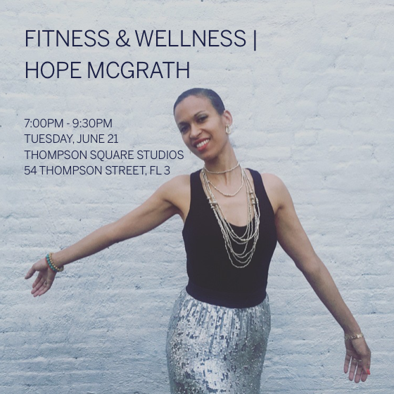 The Spark Collective by Hope McGrath. A workshop of personal empowerment, dance and fun. Hosted by Tigist Helen Schmidt, Dance instruction by Bethina Sayegh, Delicious Wine provided by Ruffino Wines, Gorgeous Location: Thompson Square Studios in Soho, NYC.