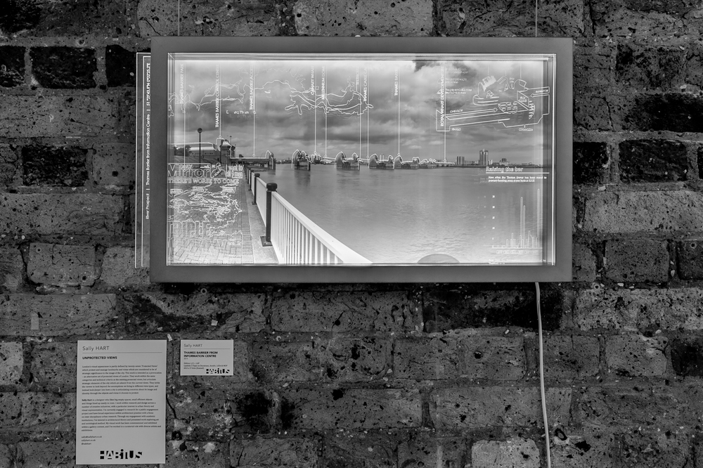 S. Hart - Unprotected Views - 'Thames Barrier from Information Centre'