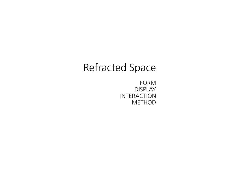Refracted Space is about using an artistic photographic practice as a medium for reassembling traditional conceptions of interior space.   It provides a framework for a different way of seeing and positioning our relationship with cultural space and objects.   I'm going to talk about 3 factors that significantly influence our experience, and a methodology that offers a chance to explore how we might reconceive these spaces.