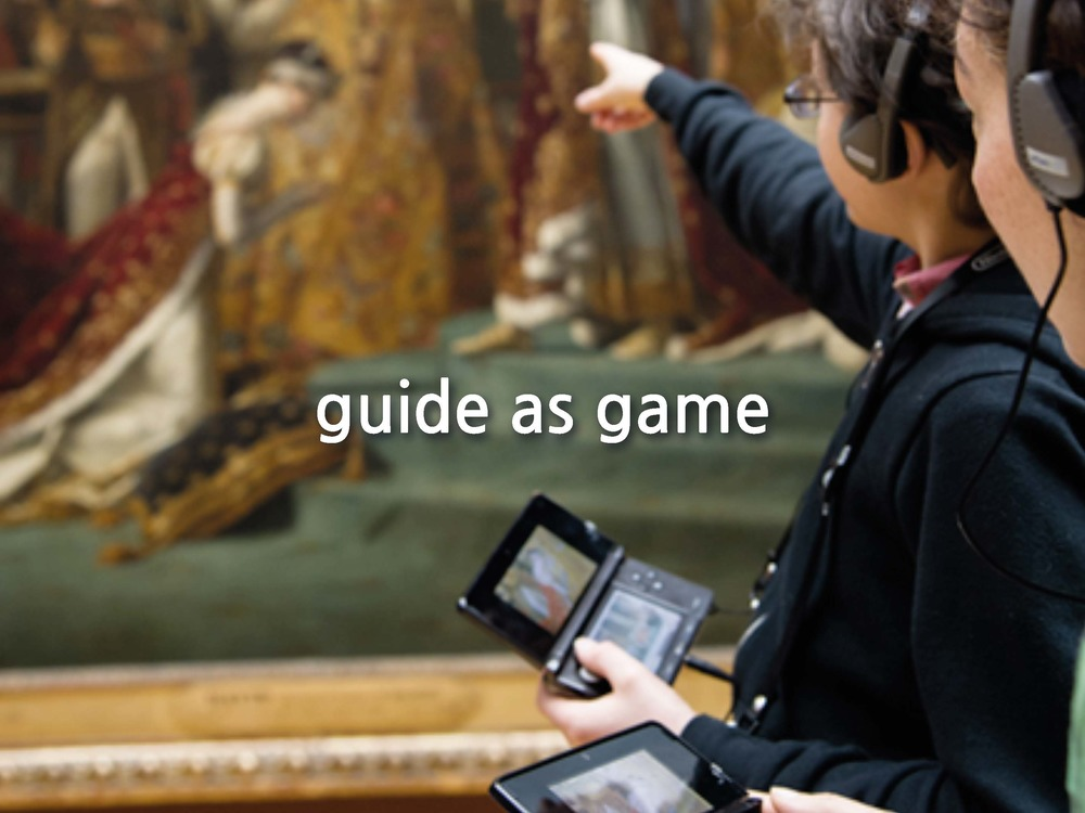 But with changing technology comes changing demands. We seek different levels of interactiveness, we become aware of passive versus active engagement and we want to integrate it into our existing devices. This is Nintendo's Guide to the Louvre released in 2012.