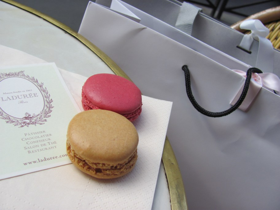 Replenish from a hard day of shopping with Ladurée'sfamous Macarons...