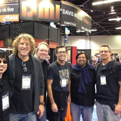 Hanging with artists at the NAMM Show