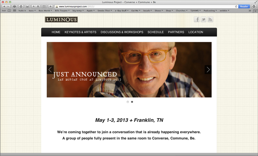 The Luminous Project: Nashville, May 1st through 8th. Come and meet Roy.