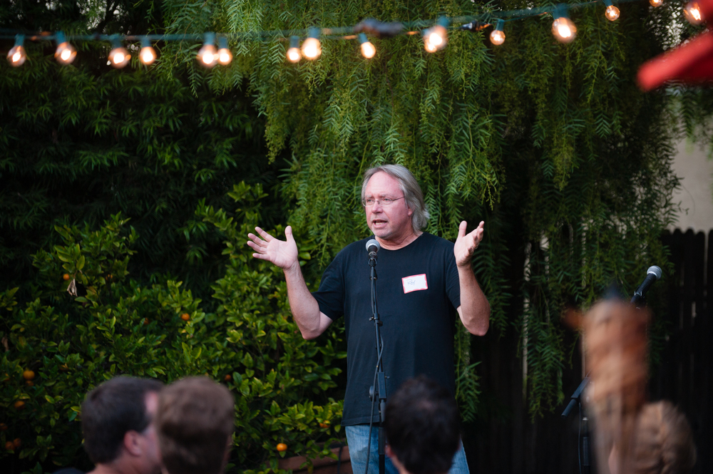 Roy sharing at a Grove Gathering