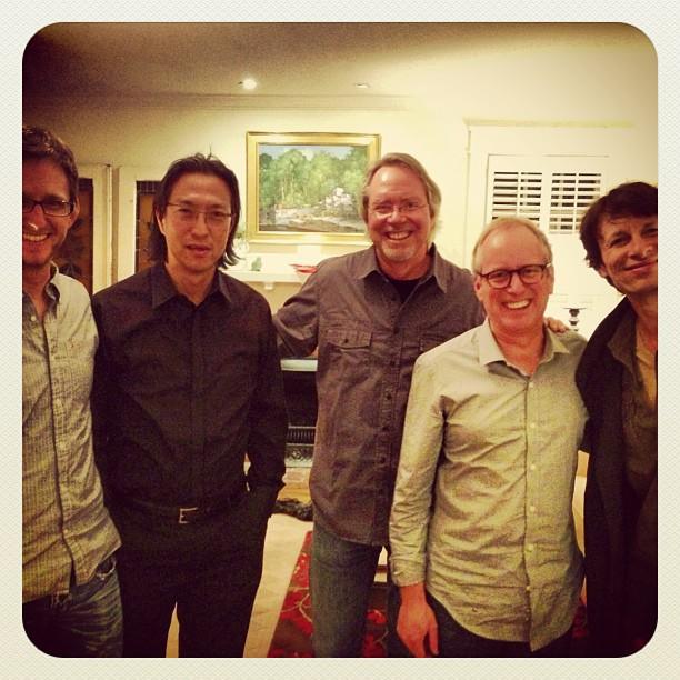Bret Mabury, Mako Fujimura, me, Ian Cron, Steve Taylor
