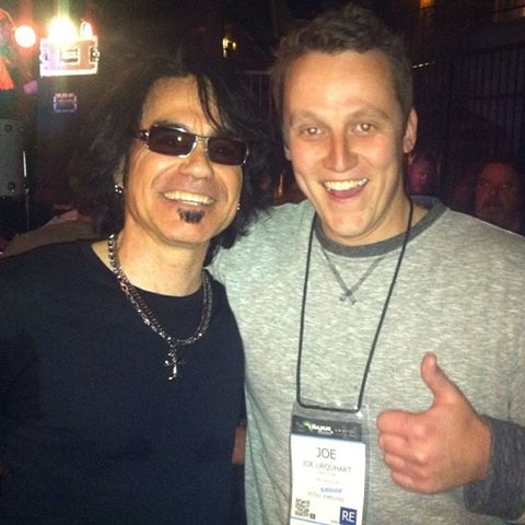 My great friends Arnie Vilches & Joe Urquhart connecting at the NAMM Show
