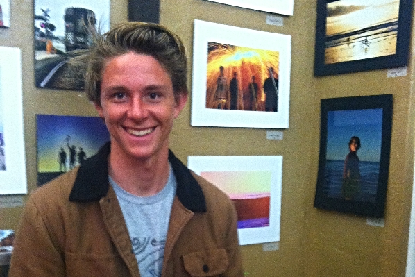 Trevor at a Gallery showing of some of his photographs.