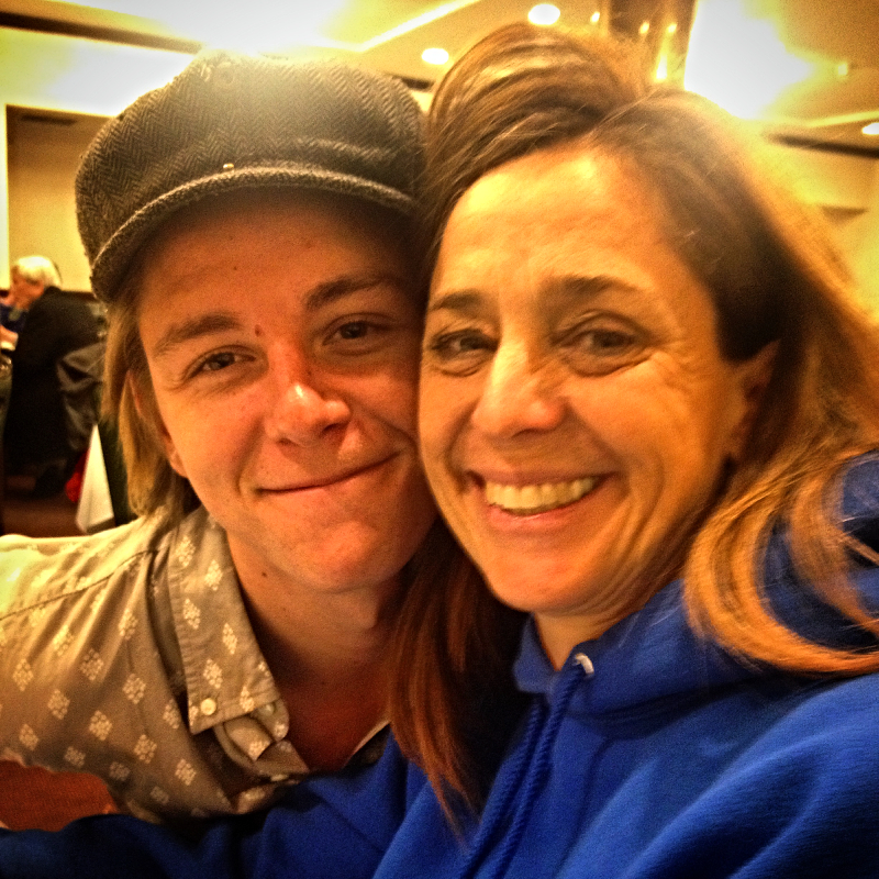Trevor & CHristine on Mother's Day -