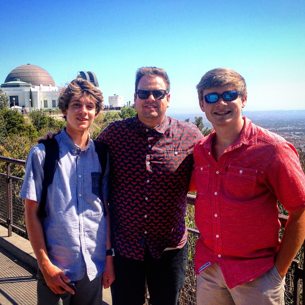 A great trip up to the Griffith Park Observatory with Stephen Proctor and his nephew.