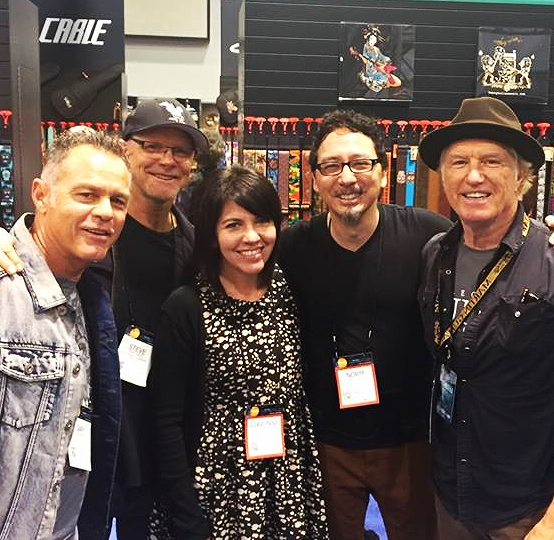 Gary Santo-Pietro, Steve Antie, Gina & Norm Stockton and Paul Clark sharing a tender NAMM moment.