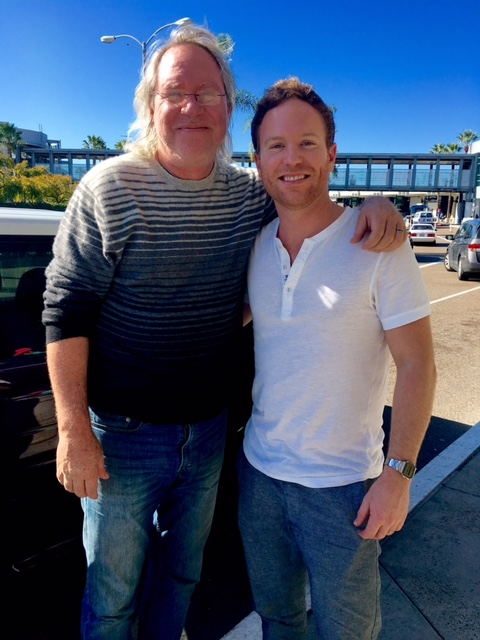 Nashville Producer/Drummer   Jared Kneale   and I enjoying a San Diego winter, the NAMM Show and an extended time of dreaming, praying and playing.