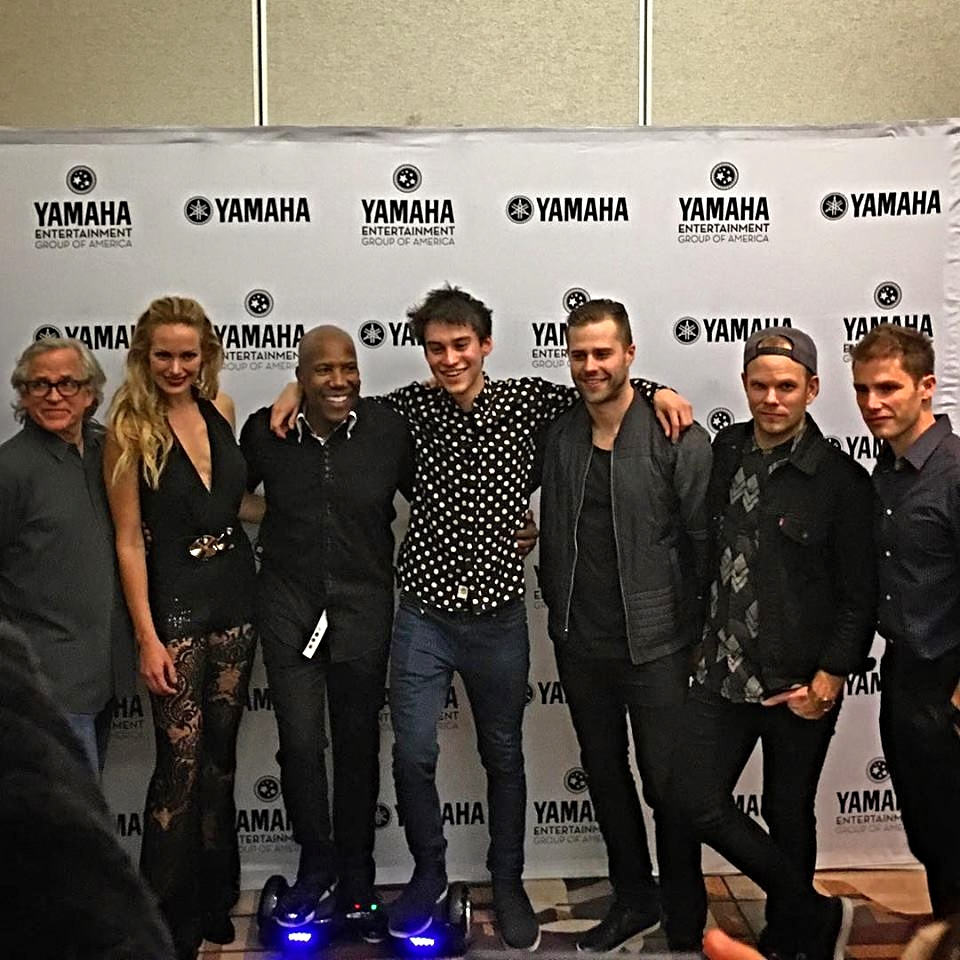 Yep another NAMM moment when we are backstage and you end up hanging out with legendary artists you grew up listening to like   Steve Porcaro & David Paich   from  TOTO,  the one and only   Nathan East, Teddy Campbell   and a new favorite artist   Jon McLaughlin  . Yep . . .  that's normal. NOT! So fun walking with God.