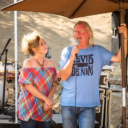 Roy & Christine sharing at Party for the soul