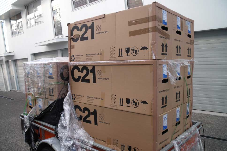 Trailer load of the C21 panels.