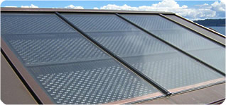 Flat Plate solar hot water collector array
