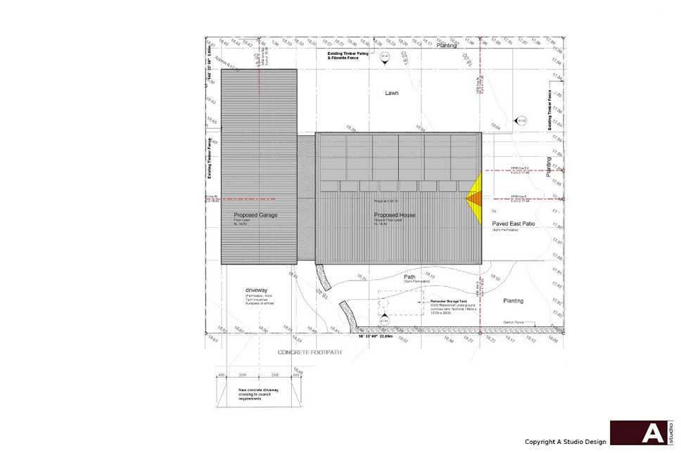 Site plan detail.