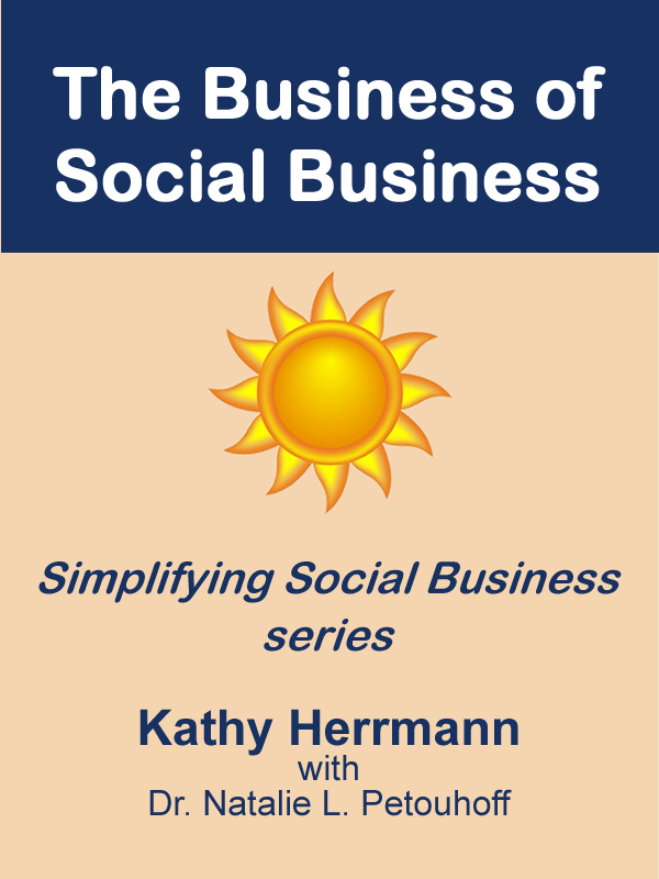 The Business of Social Business shows corporate leaders how to implement the social business model to better engage, connect, and influence customers, partners, employees and other target audiences. It's the second book in Kathy Herrmann's Simplifying Social Business ebook series.