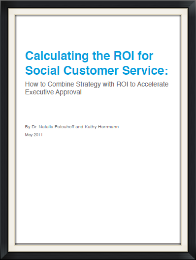 Sponsored by Salesforce.com, the Social Customer Service Guidebook shows corporate leaders how to use social media for agent deflection and improved agent productivity. In both cases towards the benefit of call center cost savings -- and often with huge ROIs.