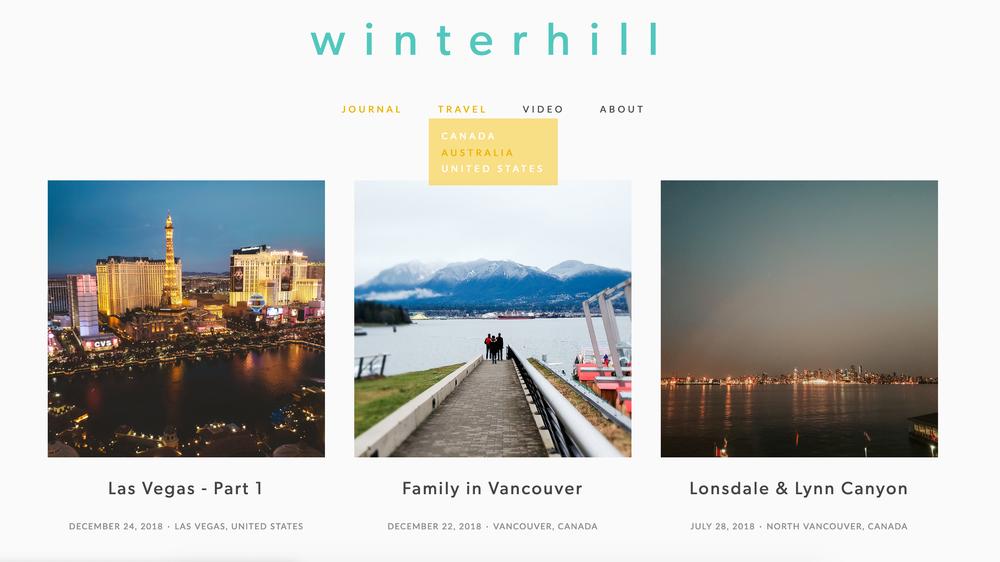 Winterhill - Personal Blogwww.winterhill.lifeUser Interface (UI) & UX DesignVisual DesignCustomised LayoutContent CreationBlog PostsPhotographyVideoWritingSquarespace platform.