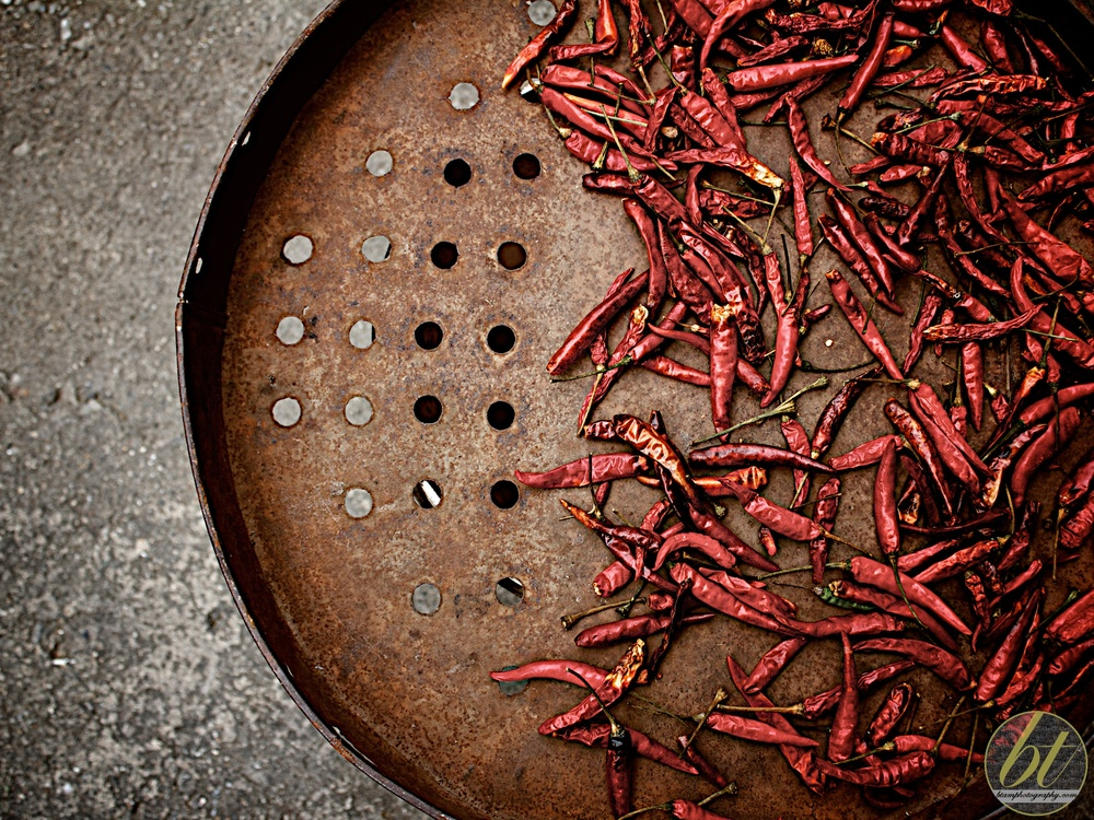Sundried chillies @ Chiang Mai markets, Thailand