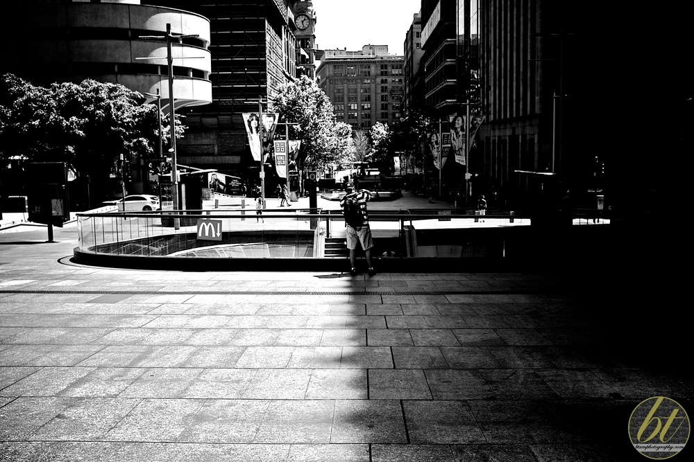 light & dark in Martin Place