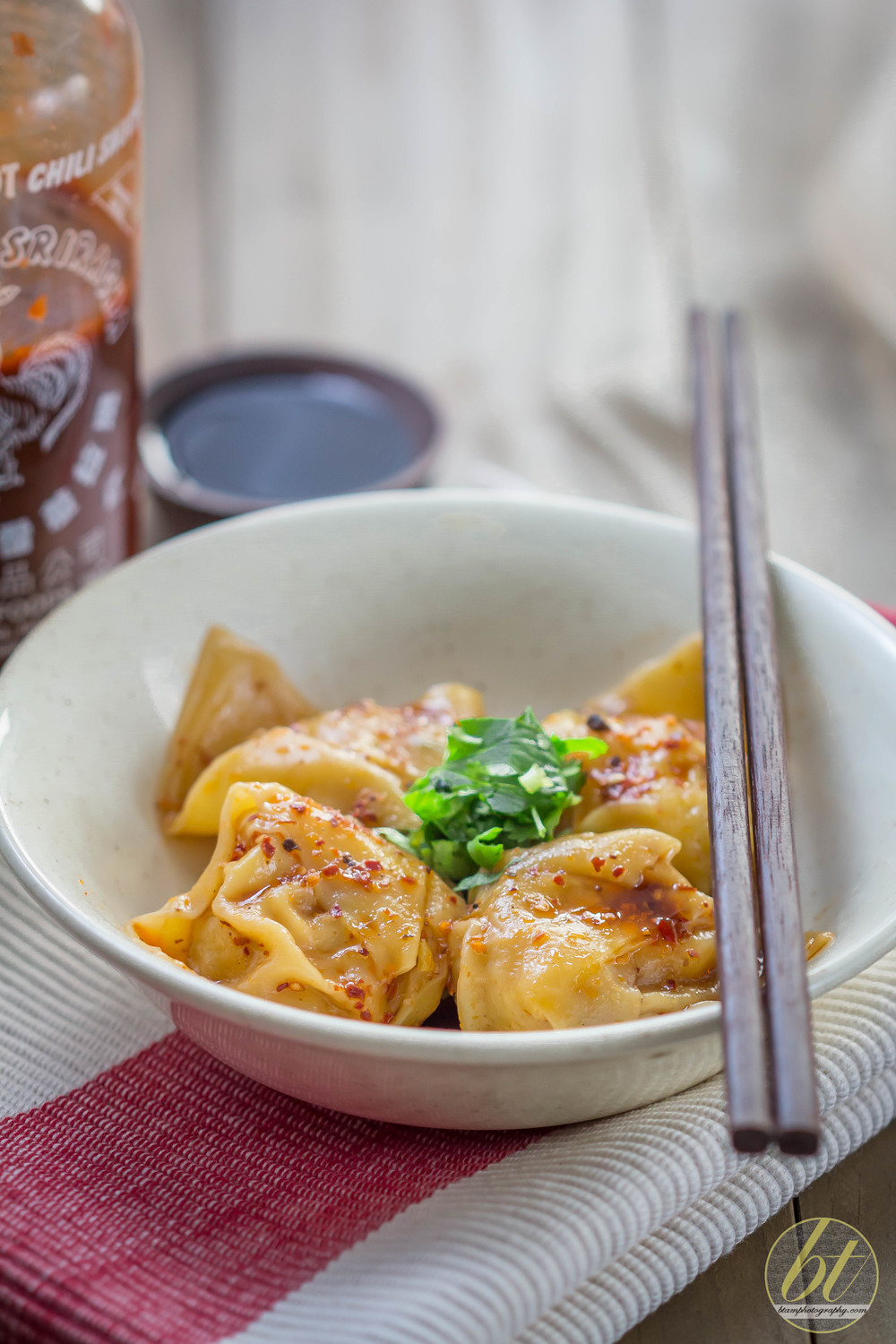 Pork Wontons in Chilli Oil