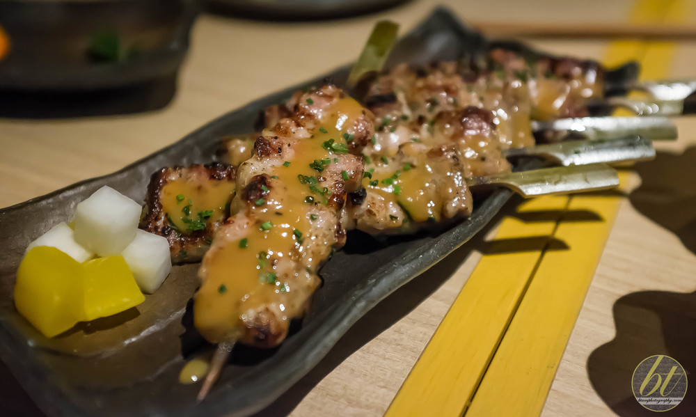 Pork Belly Skewers with Yuzu Kosho Miso