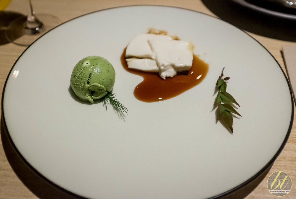 Sticky Mochi-mochi Tofu with Green Tea Ice Cream