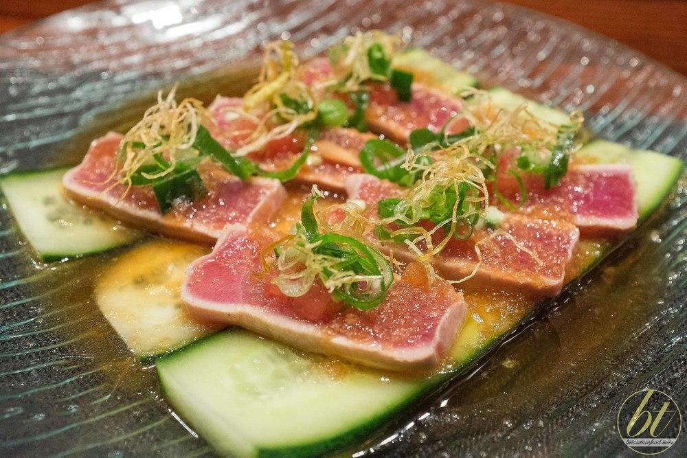 Tuna tataki ($18)