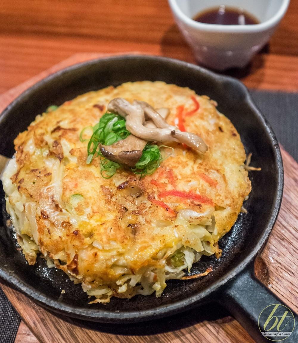 Mushroom okonomiyaki ($13)