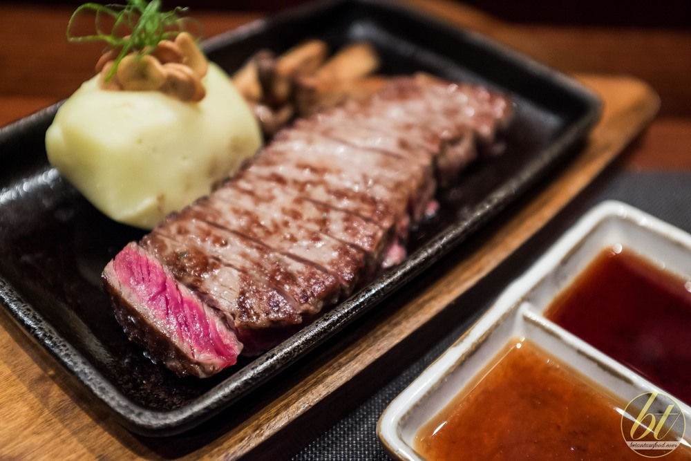 Wagyu sirloin with ponzu and steak sauce ($29)