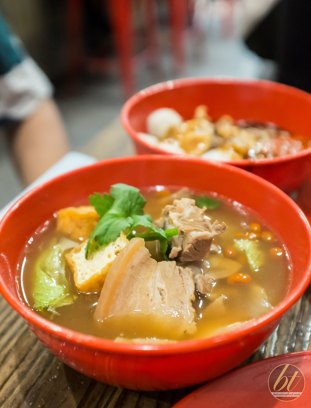 Bak Kuh Teh ($13.80) - pork ribs and belly in herbal soup