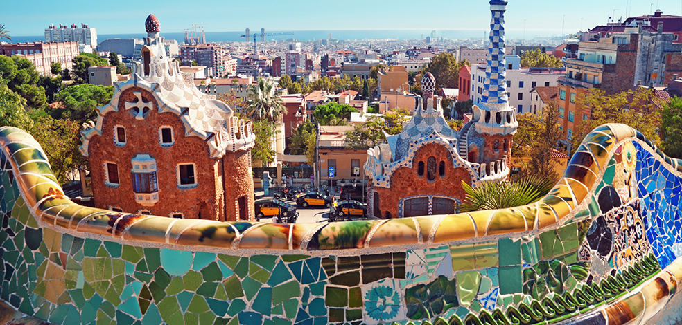 The city in my head looks a little like Parc Guell in Barcelona.