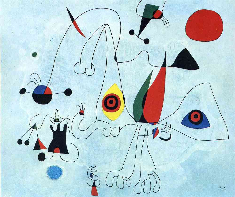 I like to imagine Joan Miro (above) and Diego Velazquez (top) in conversation.