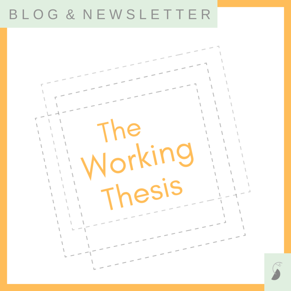 working thesis scholarshape margy thomas knowledge-building