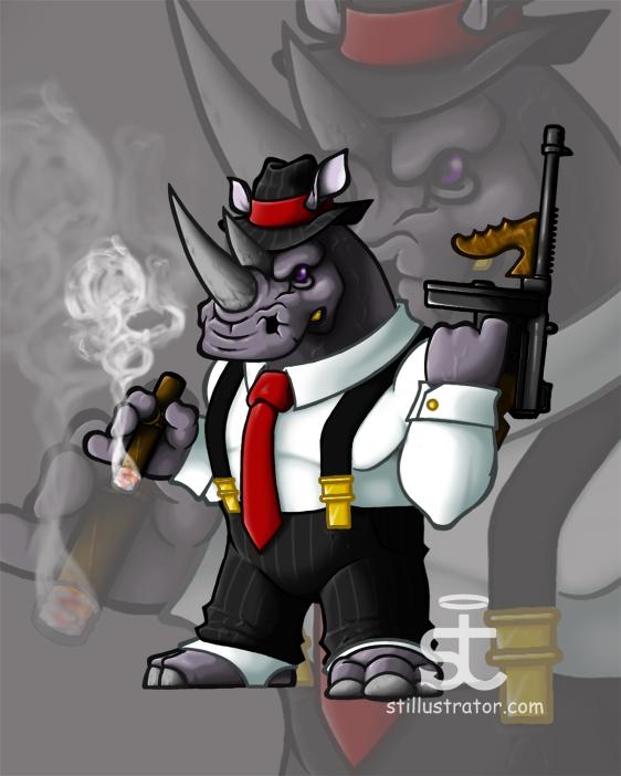Cartoon Characters Gangster : Stillustrator — mascot design character