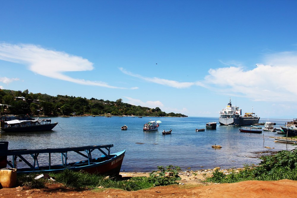 one of the small coves that make up Nkhata Bay, a base for the local fishing trade
